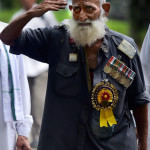 New Delhi: An Ex-servicemen during the protest over the delay in implementation of ëOne Rank, One Pensioní (OROP) at Jantar Mantar in  New Delhi